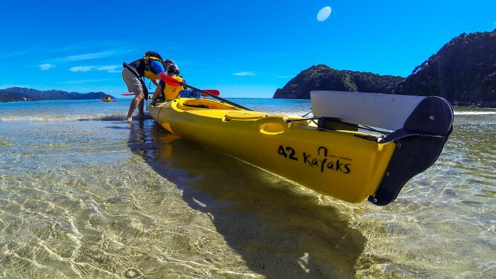 ATK kayak launch med3 Abel Tasman Kayaks
