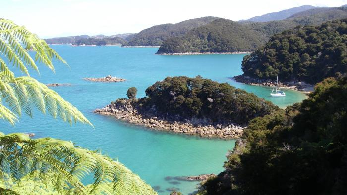 At anchor Abel Tasman1195 Abel Tasman Sailing Adventures
