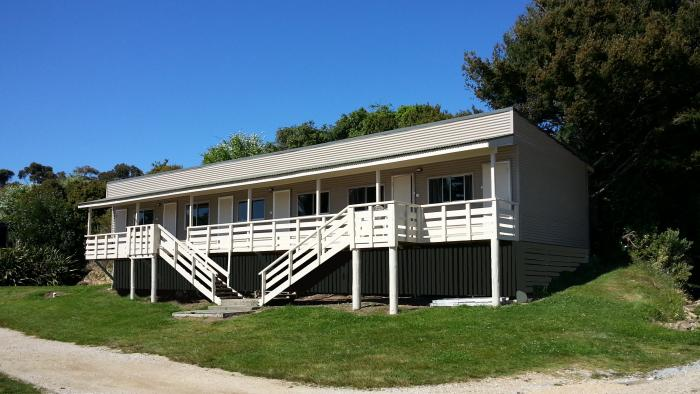 Cabins finished Golden Bay Kiwi Holiday Park