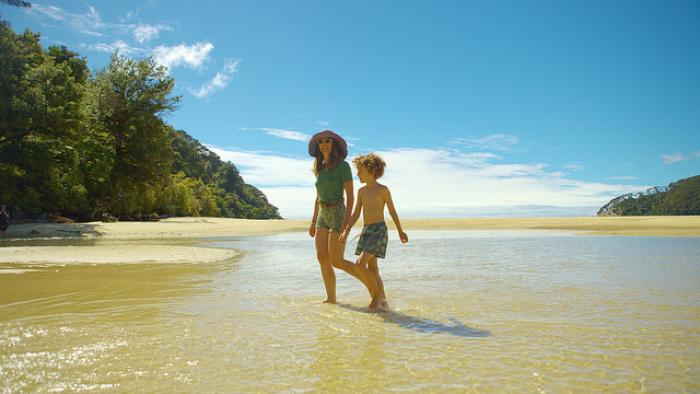 Lucy Peach and son small2 Wilsons Abel Tasman National Park