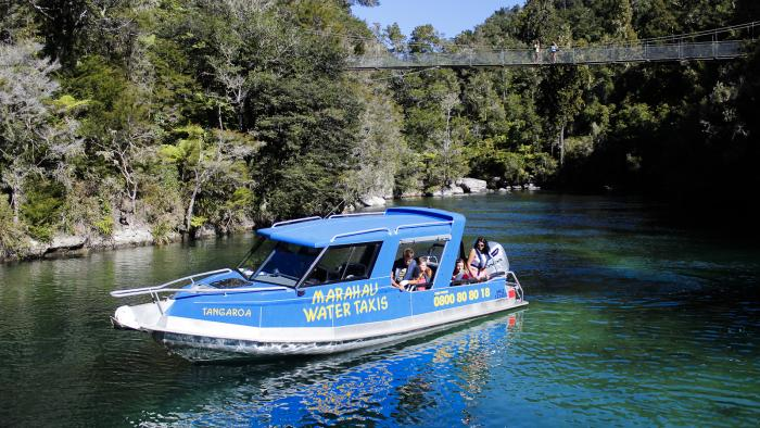 Marahau Water Taxi with Swing Bridge Marahau Water Taxis