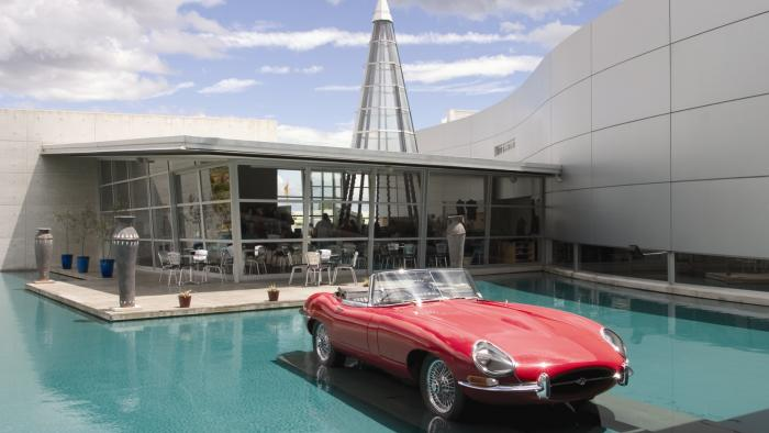 Museum with 1967 Jaguar E Type Roadster2 World of WearableArt & Classic Cars Museum