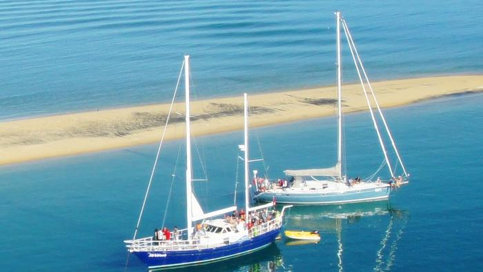 Our yachts at Adele Island Gourmet Sailing