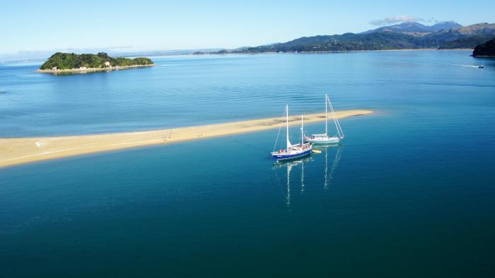 Our yachts in Abel Tasman National Park Gourmet Sailing