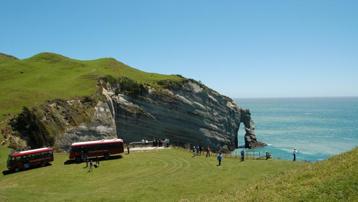 Taking in the view at Cape Farewell Farewell Spit Tours