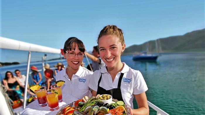 Your crew is ready to serve Gourmet Sailing
