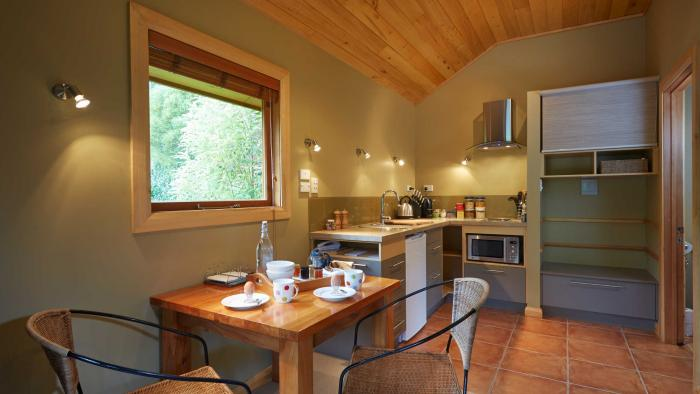 bush chalet kitchen3 The Resurgence Self-Contained Suites