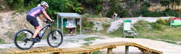 Three purpose-built mountain-bike parks