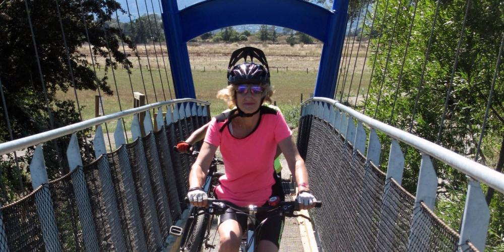 Crossing Waimea Bridge5 Nelson Cycle Hire and Tours