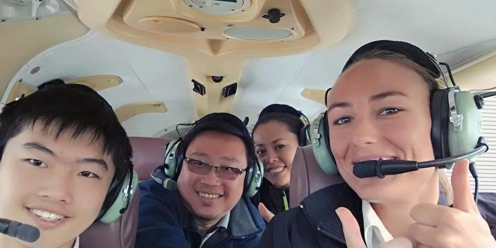 Golden Bay Air Happy Passengers 2 Fly Golden Bay and Cruise Abel Tasman Day Tour ex Nelson
