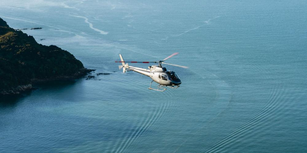 HQN over sea with bit of land3 Helicopters Nelson Top of the South