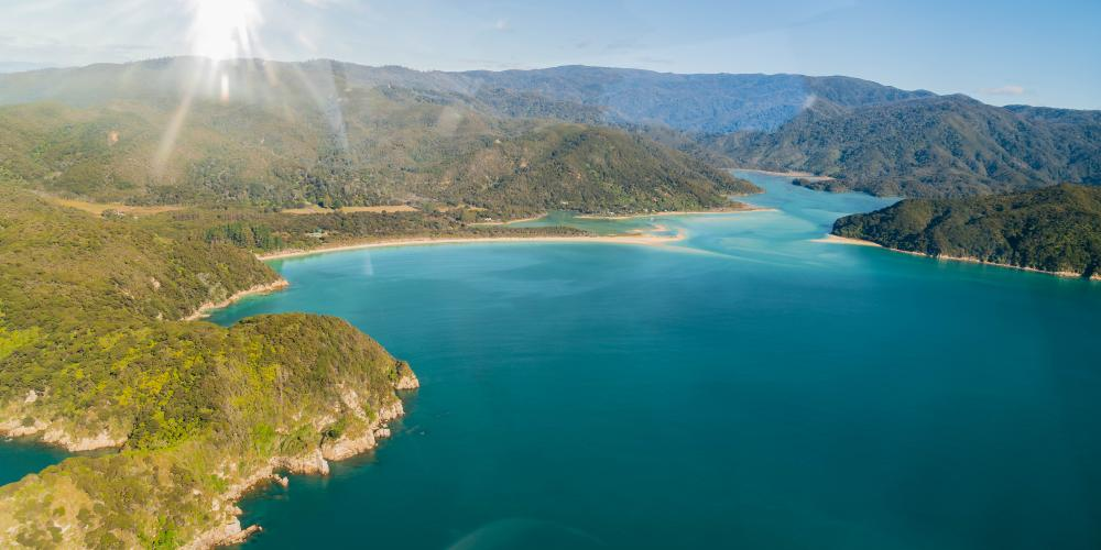 Heli Cruise Abel Tasman The Best of Both Worlds Awaroa2 Helicopters Nelson Top of the South
