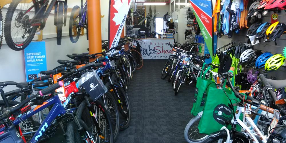 Interior shop Motueka Bike Shed