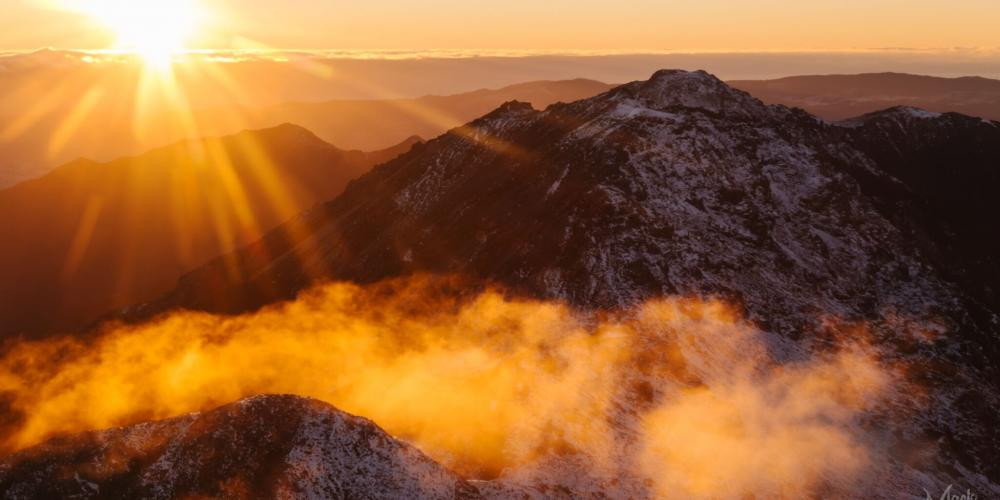 Kahurangi sunrise on cloud Mack Photography Scenic Flights from Takaka, Motueka and Nelson