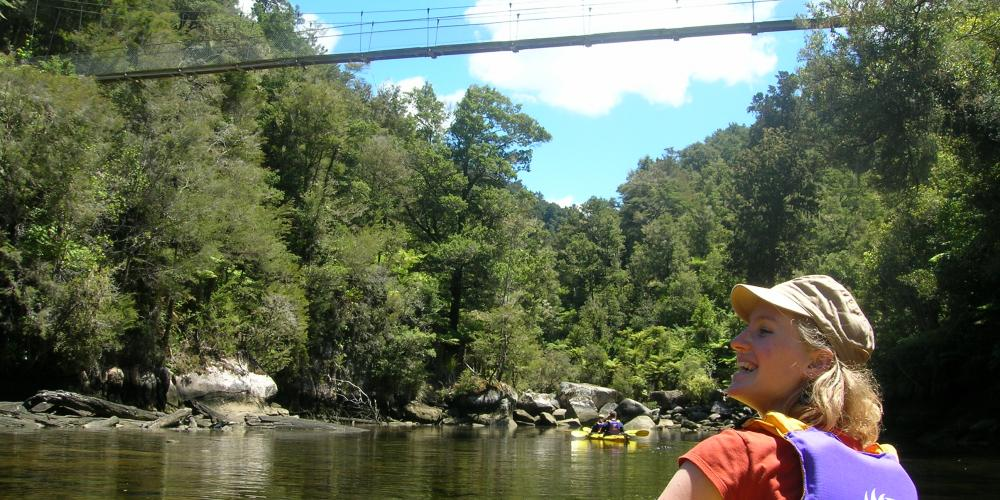 Kayak Falls River Wilsons Abel Tasman Sea Kayaking