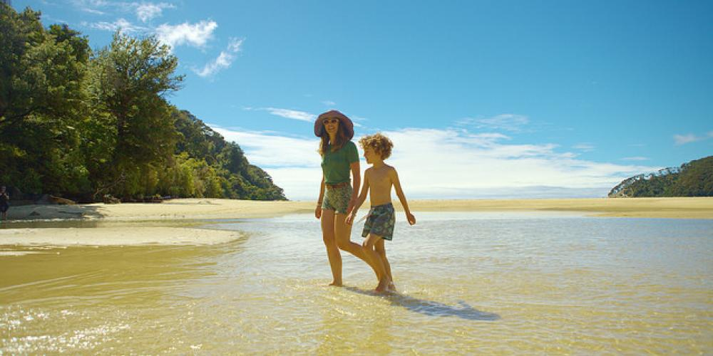 Lucy Peach and son small Wilsons Abel Tasman Personalised Tours and Guides