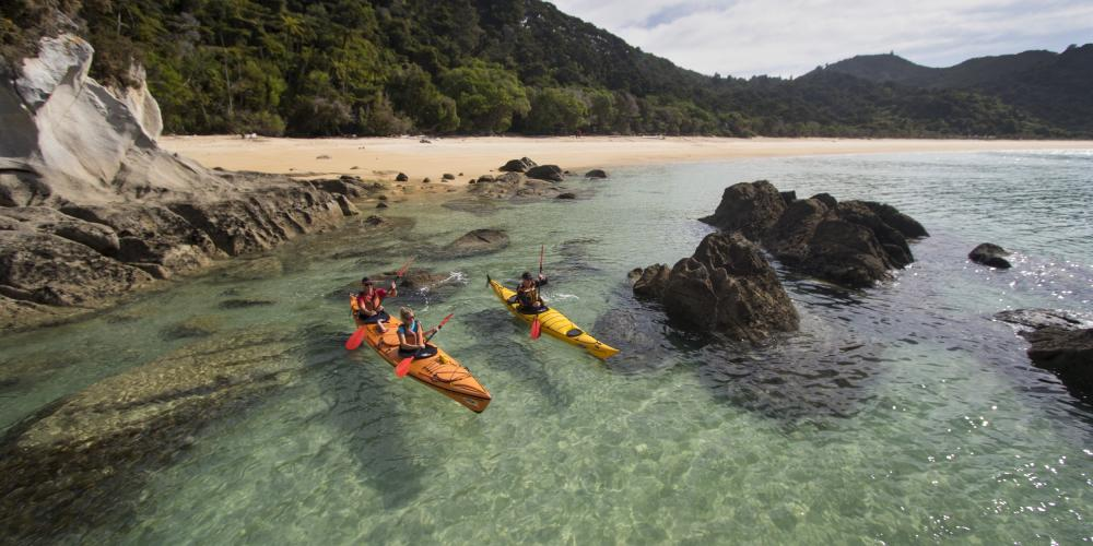 MSK Onetahuti with guide 4 Marahau Sea Kayaks