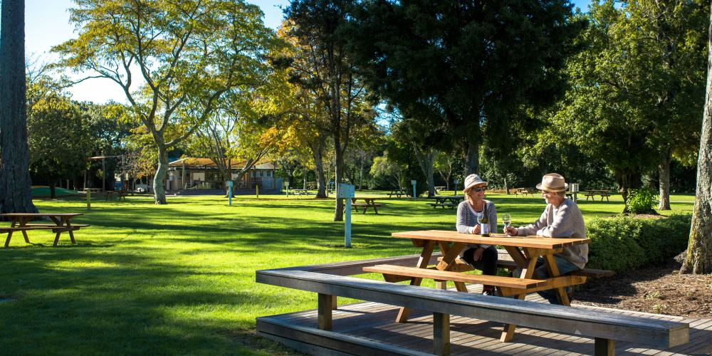 Older Couple Motueka TOP 10 Holiday Park