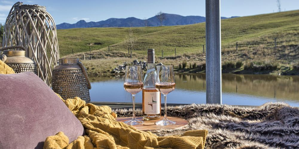 Pond picnic with wine3 Tasman View Accommodation