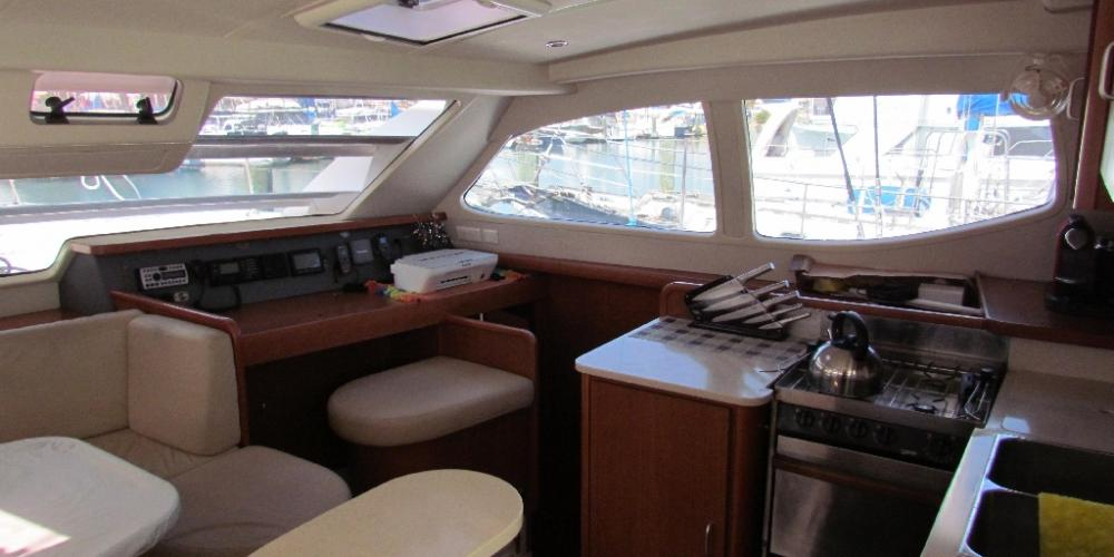 Te Harinui Interior Galley2 Scenic Holidays with Abel Tasman Sailing Adventures