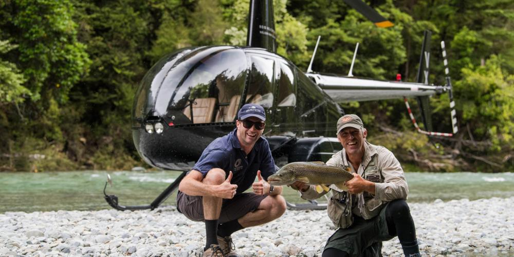 Trout Fishing credit Reid Helicopters2 Helicopters Nelson