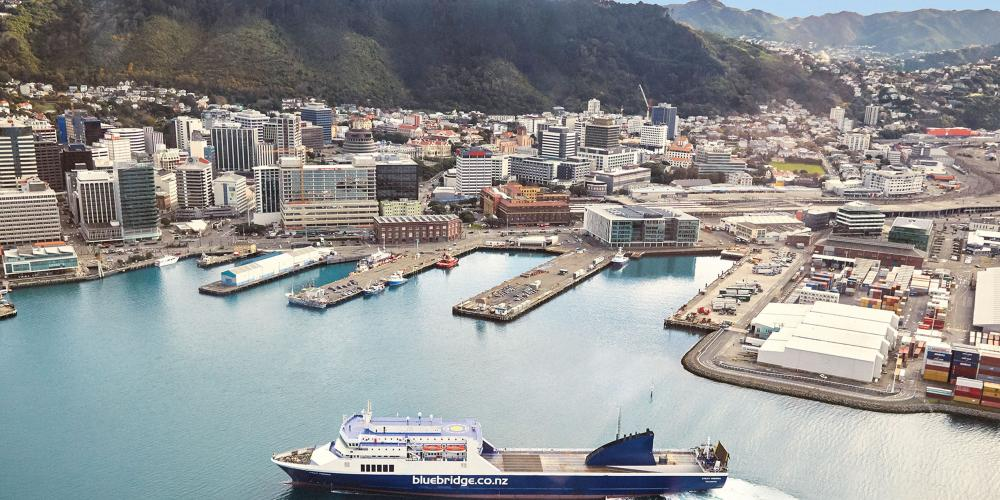 Wgtn image without bridge Bluebridge Cook Strait Ferries