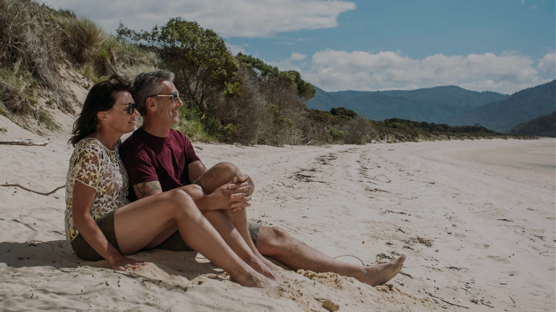 Couple in Abel Tasman National Park
